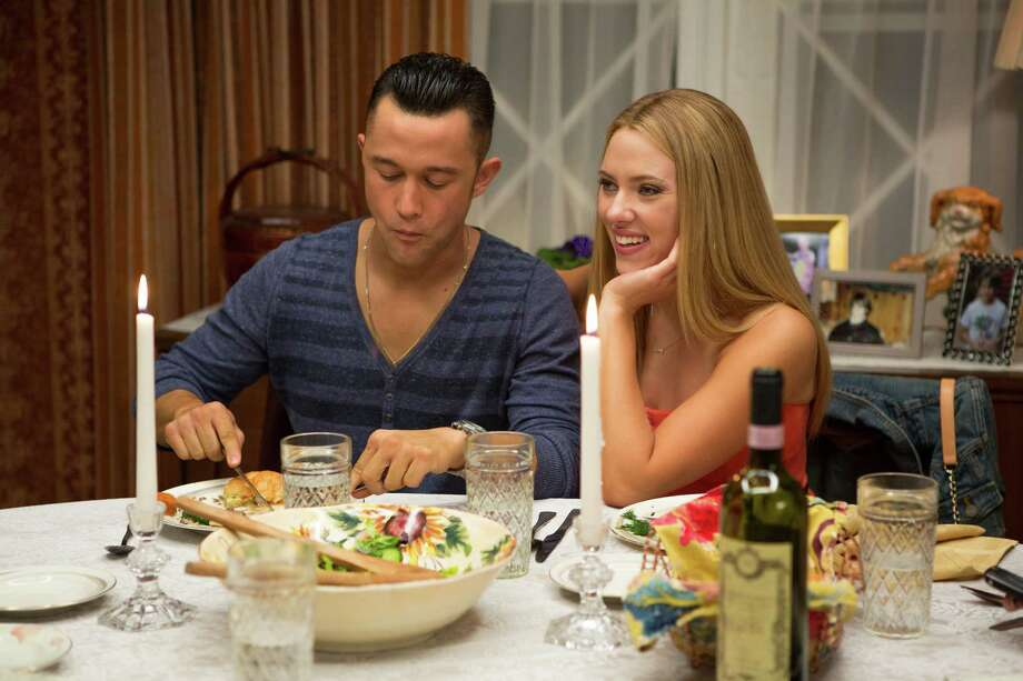 "This film image released by Relativity Media shows Joseph Gordon-Levitt, left, and  Scarlett Johansson in a scene from ""Don Jon"". (AP Photo/Relativity Media, Daniel McFadden) ORG XMIT: NYET806 Photo: Daniel McFadden / Relativity Media"