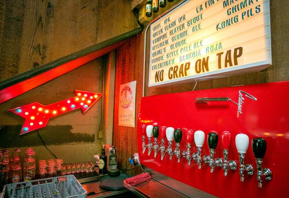 The beer taps at Garaje in San Francisco. Photo: John Storey, Special To The Chronicle
