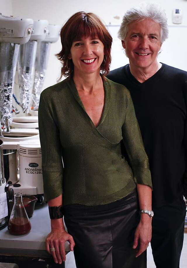 Jane Metcalfe and Louis Rossetto, whose Wired magazine helped pave the way for the digital revolution, have founded Tcho Ventures to take gourmet chocolate to new heights and depths of flavor. Photo: Russell Yip, The Chronicle
