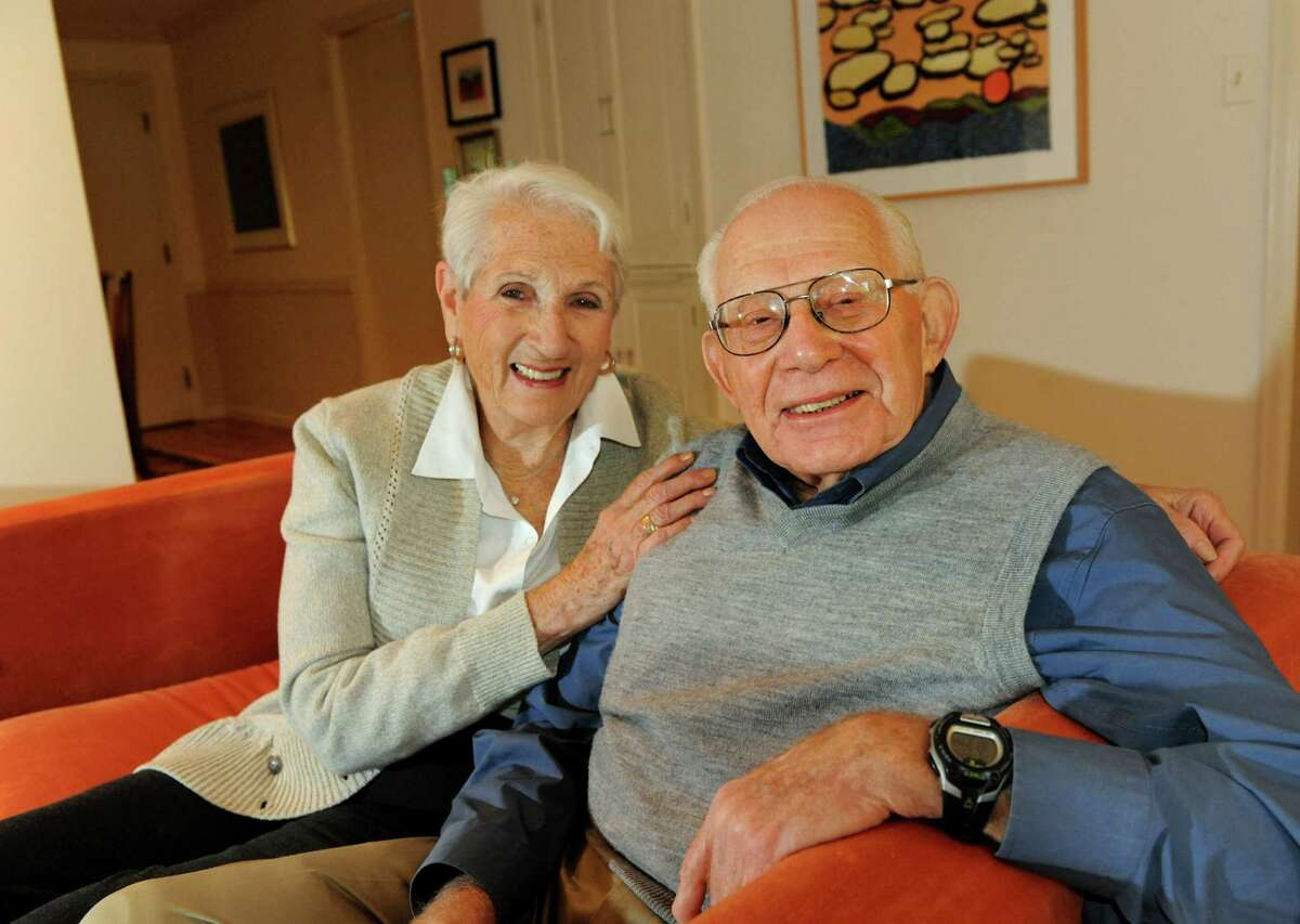 Harry Rosenfeld and his wife, Annie, on Tuesday, Sept. 24, 2013, at his home in Albany, N.Y. Rosenfeld has a new book entitled
