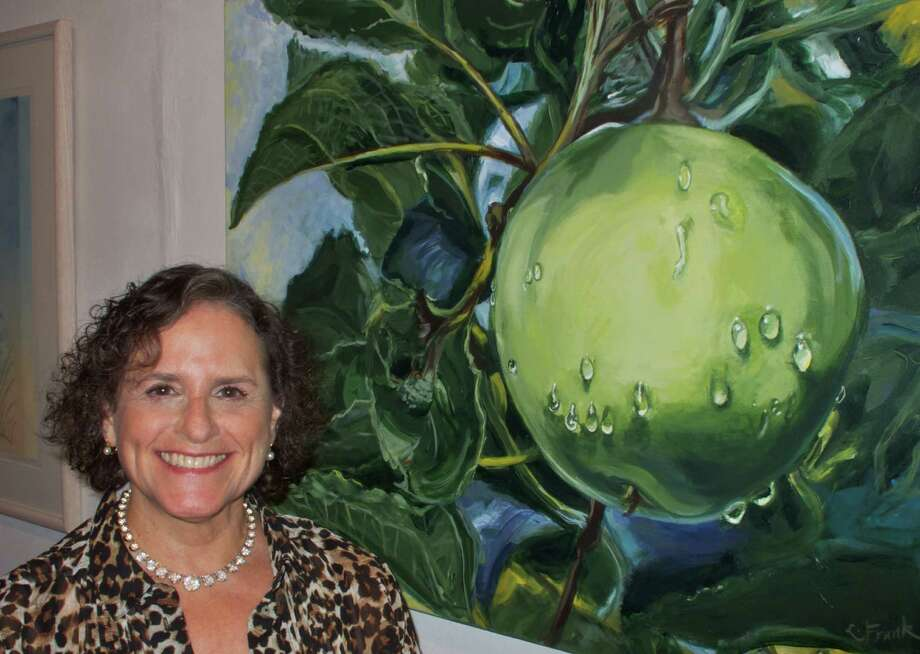 Westport painter Leona Frank received an award in the 2013 New Haven Paint & Clay Members Exhibit for ìApple with Raindrops.î Photo: Contributed Photo / Westport News