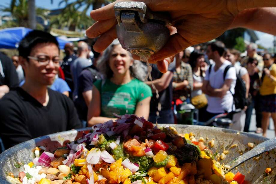 Eat Real Festival:Jack London Square is the site of this fifth annual event, a mix of state fair, street food and block party. The focus is on regionally sourced, sustainably produced ingredients, plus local wines and handcrafted beers. 1-9 p.m. Friday, 10:30 a.m.-9 p.m. Saturday, 10:30 a.m.-5 p.m. Sunday. Free admission; all meals $5 or less. Jack London Square, Oakland. www.eatrealfest.com Photo: John Sebastian Russo, The Chronicle