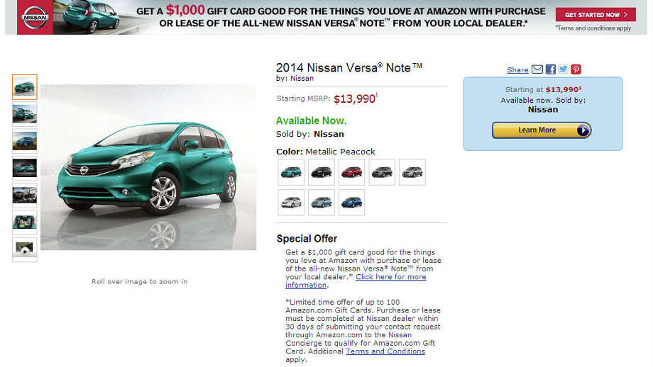Amazon's continuing quest to sell you everything has apparently extended to cars. Photo: Amazon