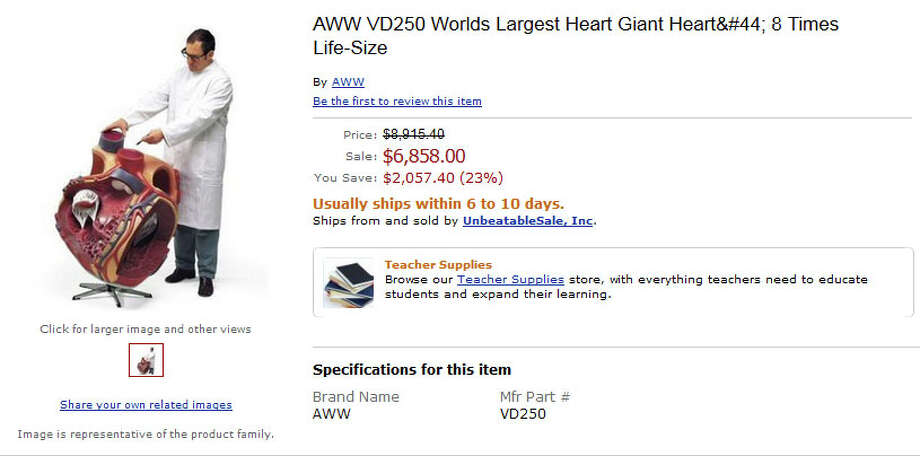 Here's a product with a lot of heart. Hah! Photo: Amazon