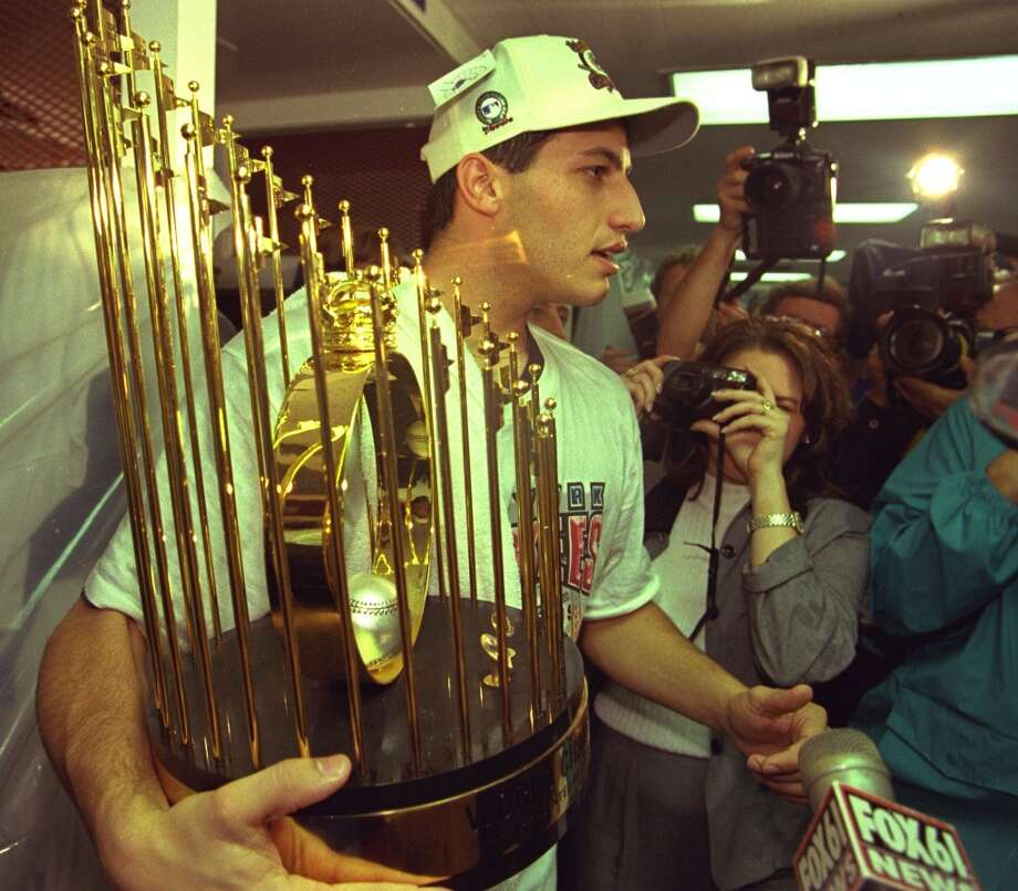 1996Starts: 34Record: 21-8Innings pitched: 221Strikeouts: 162ERA: 3.87In his first full season as a starter, Pettitte was named to the AL All-Star team (he didn't pitch in the game because of a sore arm) after posting a 13-4 record in the first half of the season. He would end up finishing second for the Cy Young Award to Pat Hentgen, with the smallest difference in voting since 1972, in part because Hentgen pitched more complete games. The Yankees, however, won the World Series in six games over the Braves and Pettitte recorded a Game 5 win. Photo: Sporting News Archive, Sporting News Via Getty Images