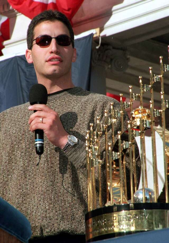 1999Starts: 31Record: 14-11Innings pitched: 191.2Strikeouts: 121ERA: 4.70 Pettitte had his highest WHIP of his career (1.591) in 1999, but the stat was moot after the Yankees won their second World Series in as many years by sweeping the Braves. Photo: James Devaney, Getty Images