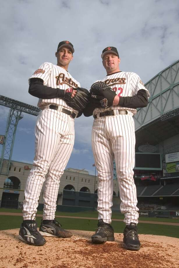 2004Starts: 15Record: 6-4Innings pitched: 83Strikeouts: 79ERA: 3.90Welcome to Houston. Wanting to be closer to his Deer Park home, Pettitte signed a three-year, $31.5 million deal with the Astros. His first season with the Astros was cut short due to elbow surgery. Photo: Sporting News Archive, Sporting News Via Getty Images