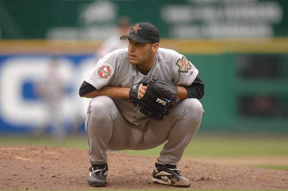 2006Starts: 35Record: 14-13Innings pitched: 214.1Strikeouts: 178ERA: 4.20Pettitte won 14 of his NL-leading 35 starts for Houston in 2006. The Astros went on to miss the playoffs in Pettitte's final season here. Photo: Mitchell Layton, Getty Images