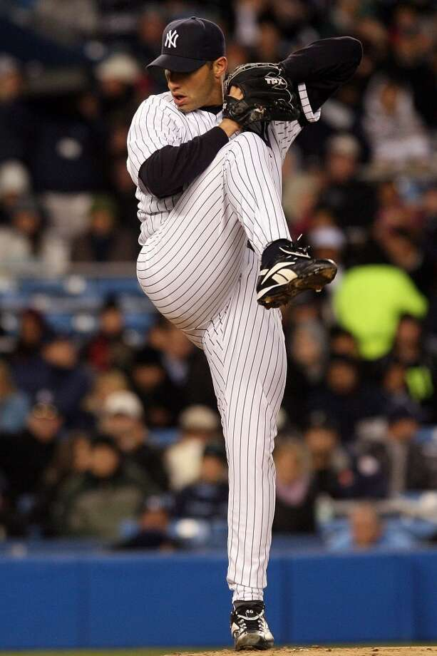 2007Starts: 34Record: 15-9Innings pitched: 215.1Strikeouts: 141ERA: 4.05 After returning to the Yankees on a one-year, $16 million contract, Pettitte won his 200th career game on September 19, 2007. He also led the AL in starts with 35. The Yankees were knocked out of the playoffs after losing to the Indians 3-1 in the ALDS. Photo: Nick Laham, Getty Images