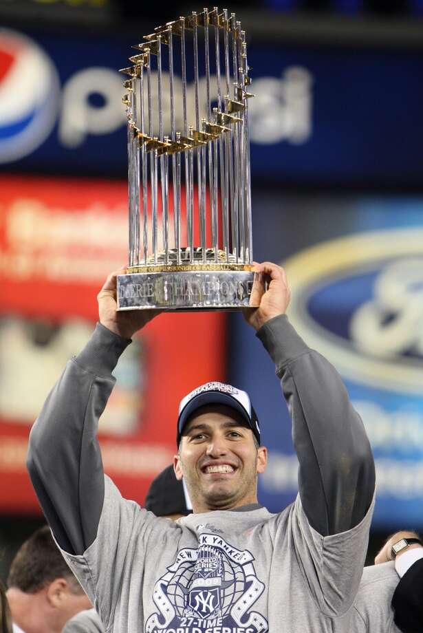 2009Starts: 32Record: 14-8Innings pitched: 194.2Strikeouts: 148ERA: 4.16Pettitte was dominant in the playoffs in 2009, going 4-0, and helping the Yankees win another World Series. He won games three and six in the World Series against the Phillies and became the first MLB pitcher to start and win three series-clinching playoff games in the same year. Photo: Jed Jacobsohn, Getty Images