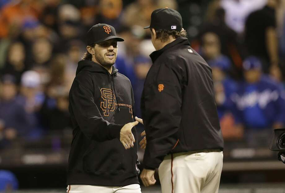 "Ex-Giant Barry Zito (left) says there is ""a hole in all of us that is filled when we work hardest in service of one another."" Photo: Jeff Chiu, Associated Press"