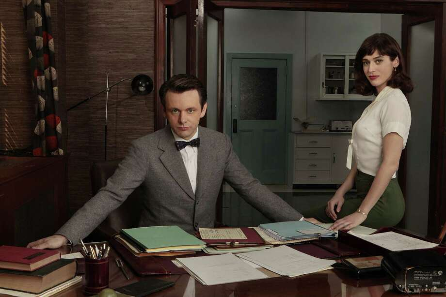 "Michael Sheen as Dr. William Masters and Lizzy Caplan as Virginia Johnson in ""Masters of Sex"" on Showtime. Photo: Showtime"
