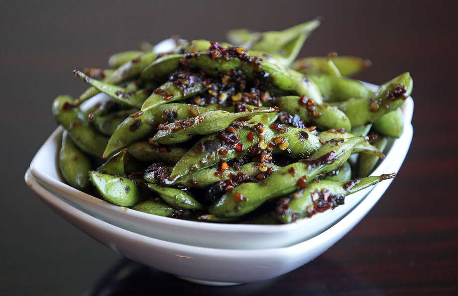Sushihana  serves Spicy Edamame from a recipe created by St. Philip's College culinary arts student Anthony Santonastaso.