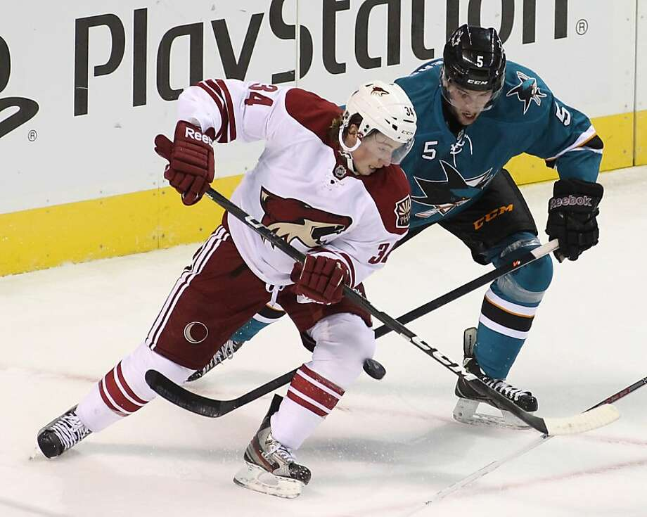 Fifth-year player Jason Demers made a strong impression on the Sharks in his first two seasons with the team but has struggled with consistency in his past two campaigns in San Jose. Photo: Mathew Sumner, Associated Press