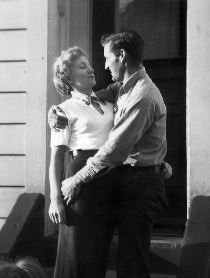 Carolyn and Neal Cassady on the porch of their Russian Hill home, where Jack Kerouac lived and wrote for a spell. Photo: Al Hinkle, Estate Of Carolyn Cassady