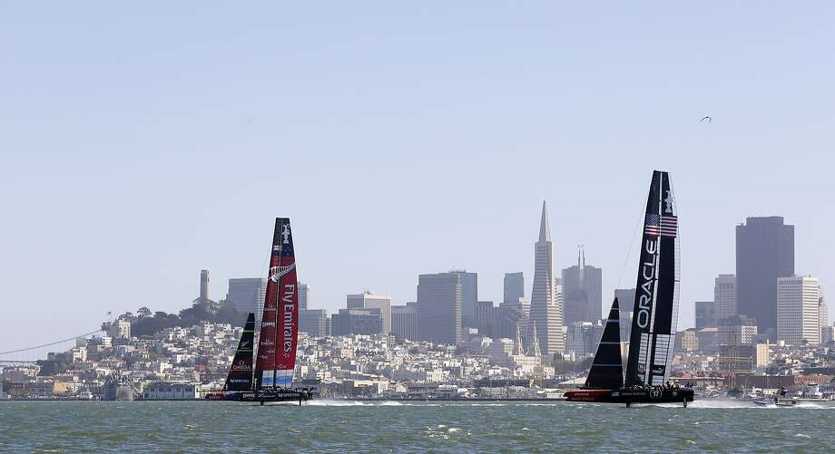 Oracle Team USA's CEO says S.F. hasn't offered the same terms it did for last year's regatta. Photo: Beck Diefenbach, Special To The Chronicle