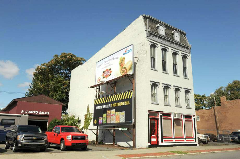 Exterior of the proposed Expressions female-centered boutique Thursday, Sept. 26, 2013, at 635 Second Avenue in Troy, N.Y. (Michael P. Farrell/Times Union) Photo: Michael P. Farrell / 00024018A