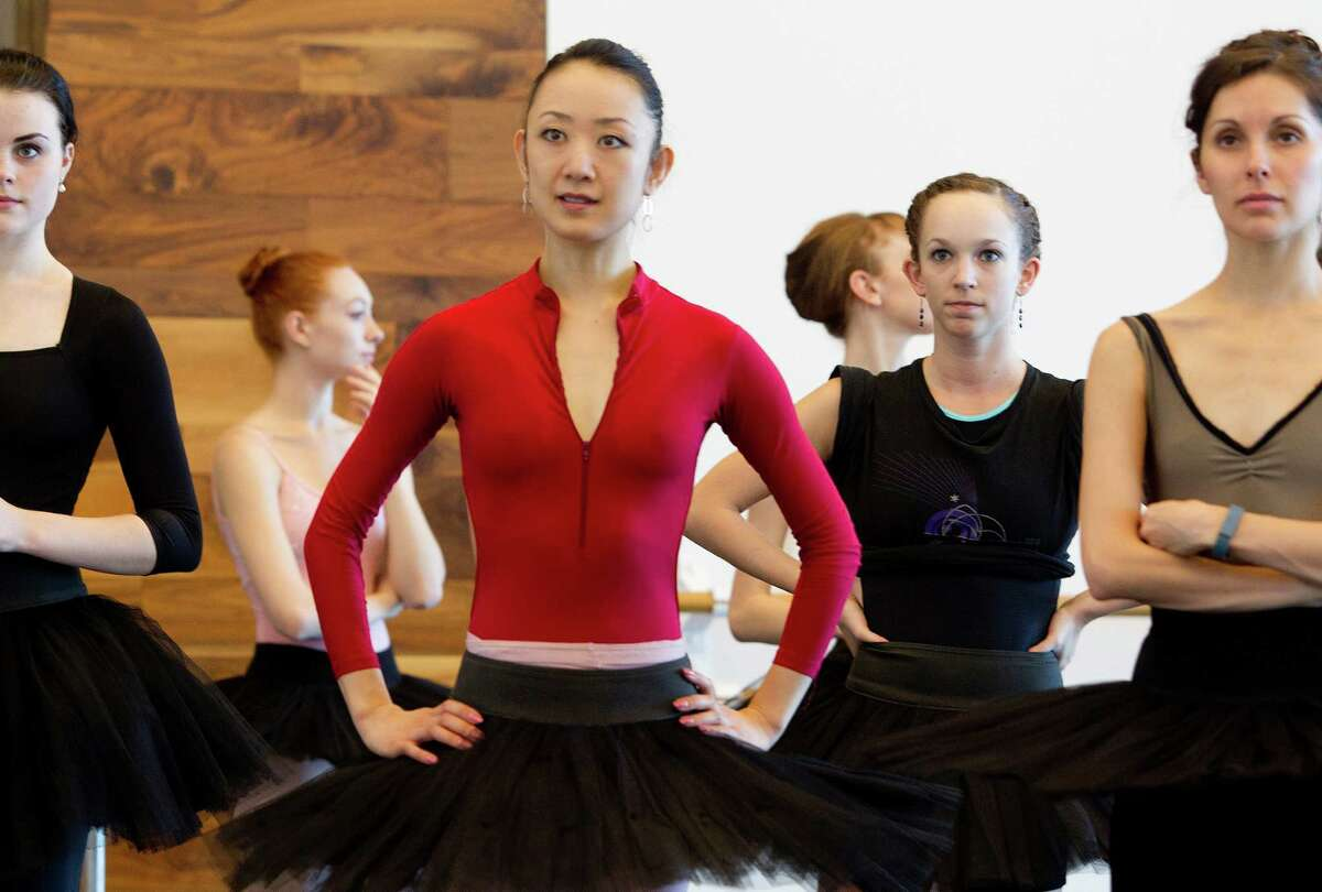 """Nao Kusu- zaki, left front, is one of the Houston Ballet dancers who took part in the HPD's """"Surviving An Active Shooter"""" presentation."""