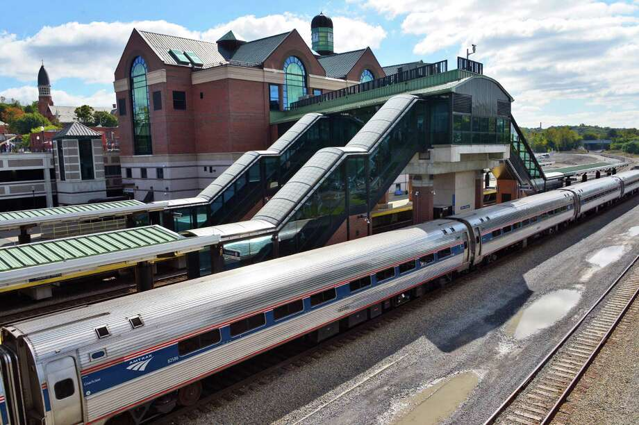 A New York City bound Amtrak train at the Albany-Rensselaer Station Thursday afternoon, Sept. 26, 2013, in Rensselaer, N.Y.  (John Carl D'Annibale / Times Union) Photo: John Carl D'Annibale