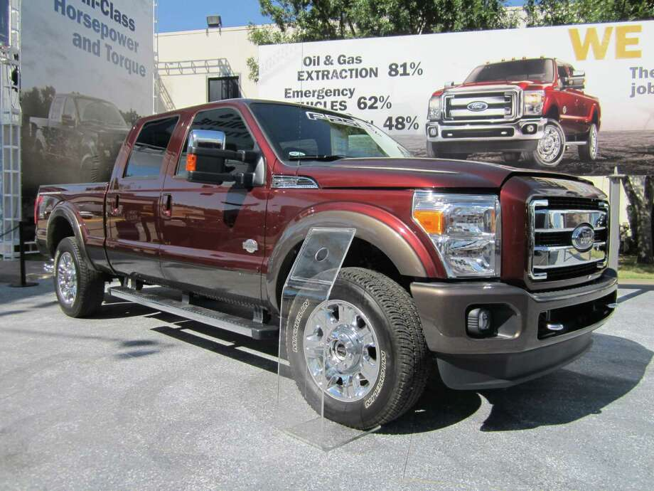 The redesigned 2015 Ford F-Series Super Duty King Ranch is making its debut at the State Fair of Texas auto show. Photo: Neal Morton / San Antonio Express-News