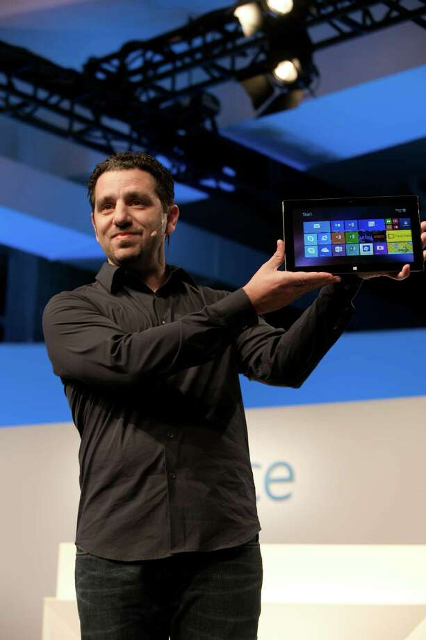 Panos Panay, Corporate Vice President for Surface Computing at Microsoft unveils Suface 2, Surface Pro 2 and accessories at the Surface Event on Monday, Sept. 23 2013, in New York City. Photo: AP