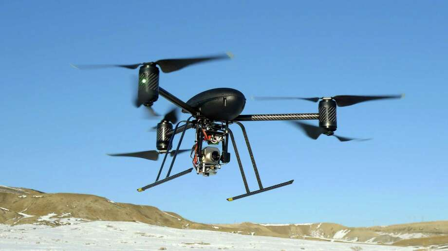 This Jan. 8, 2009 file photo provided by the Mesa County, Colo., Sheriff's Department shows a small Draganflyer X6 drone during a test flight in Mesa County, Colo., with a Forward Looking Infer Red payload. The FBI has been using drones to support its law enforcement operations since 2006 and has spent more than $3 million on the unmanned aircraft, the Justice Department's internal watchdog said Thursday, Sept. 26, 2013. Photo: AP