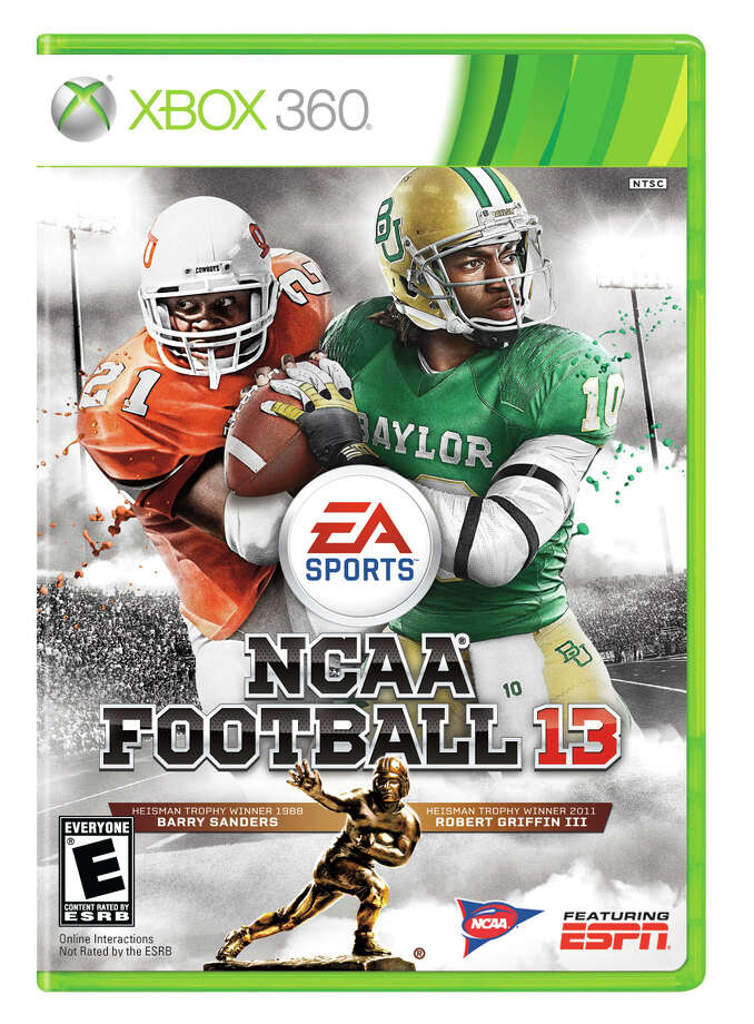 Former Oklahoma State running back Barry Sanders, left, and former Baylor quarterback Robert Griffin III are among thousands of college football players who stand to gain after Thursday's decision to settle lawsuits filed on the players' behalf. Photo: EA Sports