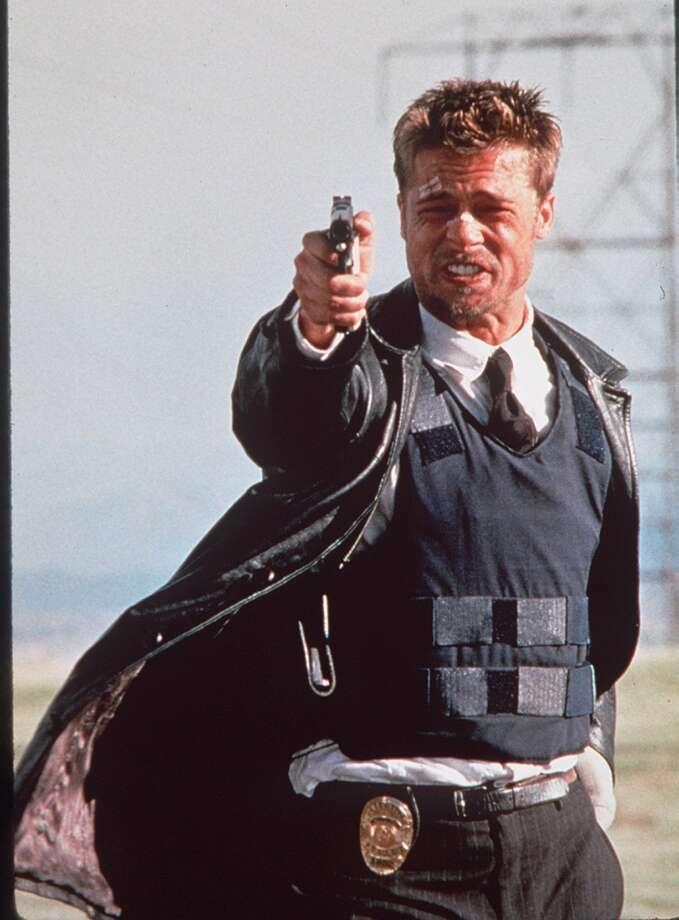 Brad Pitt in SEVEN.