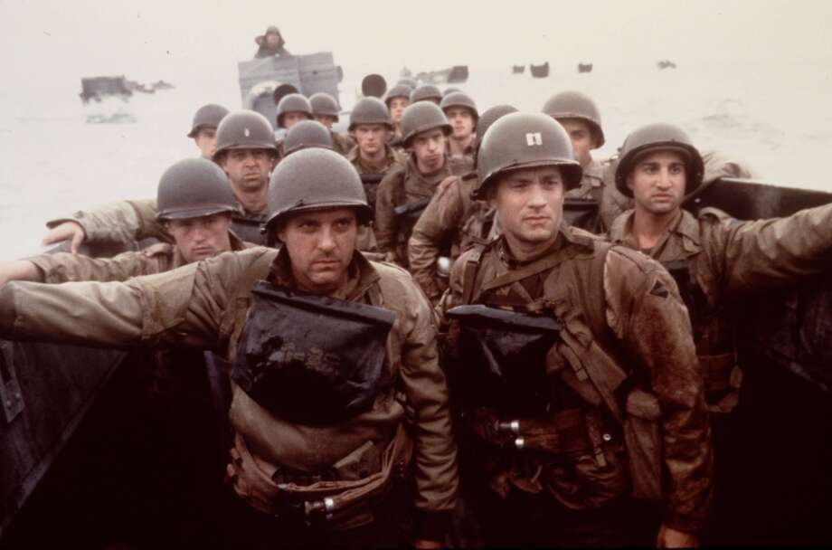 "FILE--Tom Hanks, right, and Tom Sizemore, left, appear in a scene from the movie ""Saving Private Ryan.""   (cafdil) Photo: DAVID JAMES, Associated Press"