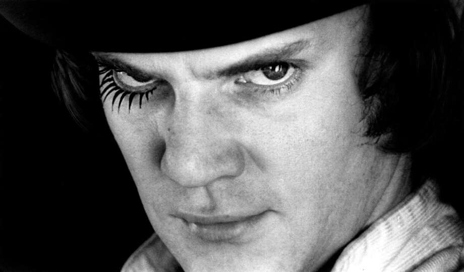 "Actor Malcolm McDowell, portraying ""Alex"" in the 1971 movie ""A Clockwork Orange"" directed by Stanley Kubrick. (muffinhead) Photo: Warner Bros., Inc., AP"