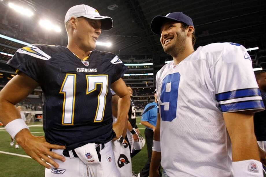 Romo and RIvers figure to pile the points in a close outcome in San Diego.