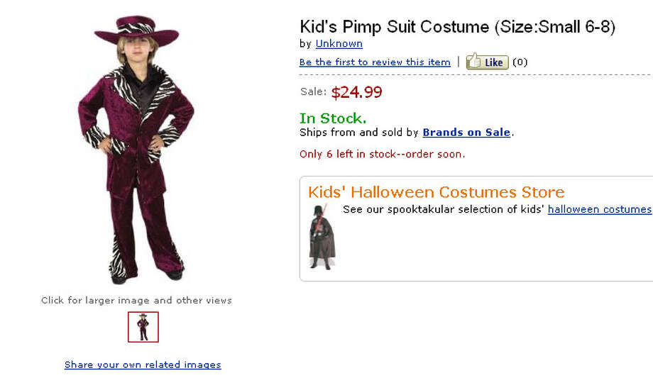 The only thing scarier than a pimp is a parent who would dress their young child up as one.