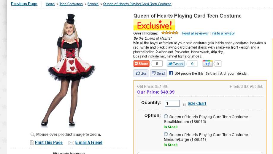 """This costume advertises your daughter can """"win all the boys' affection."""" Isn't that what parents are hoping doesn't happen?"""