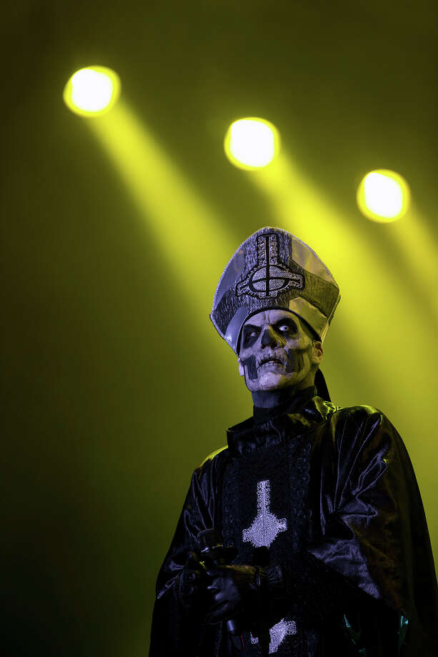 Mary Goore of the Swedish heavy metal band Ghost B.C., performs during the Rock in Rio music festival, in Rio de Janeiro, Thursday, Sept. 19, 2013.  The week-long festival will feature a list of headliners including, Bon Jovi, Iron Maiden and Bruce Springsteen. Photo: Silvia Izquierdo, AP / AP
