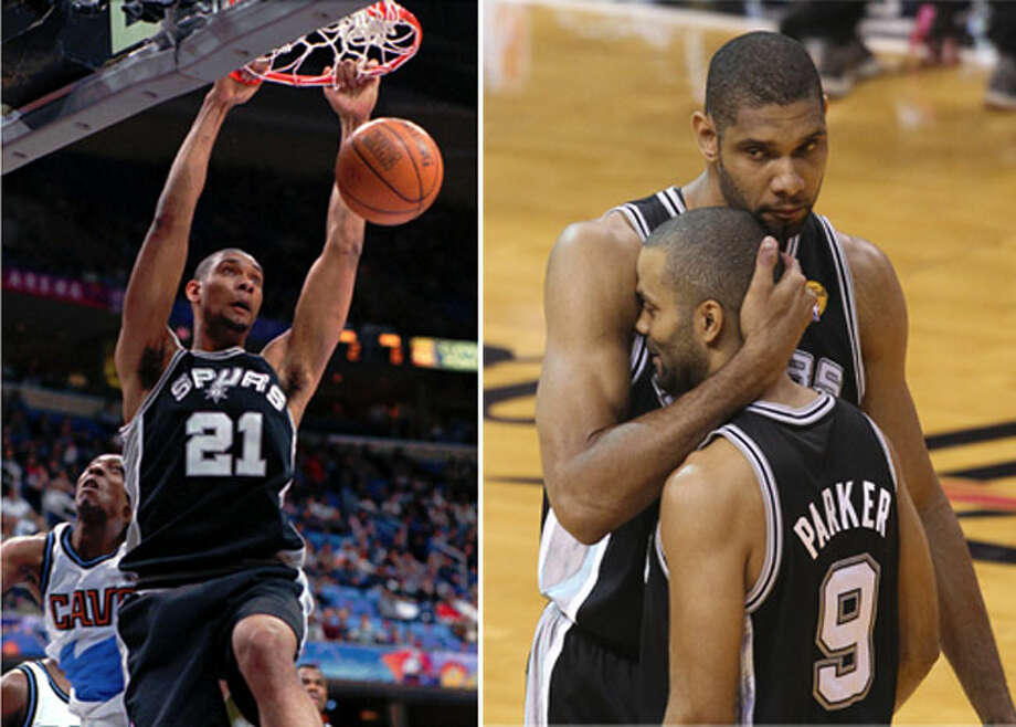Spurs went from having what would be their first championship season in 1998-1999--thank you Tim Duncan!--to coming up just short of a fifth championship in 2012-2013. Photo: TONY DEJAK, File Photos