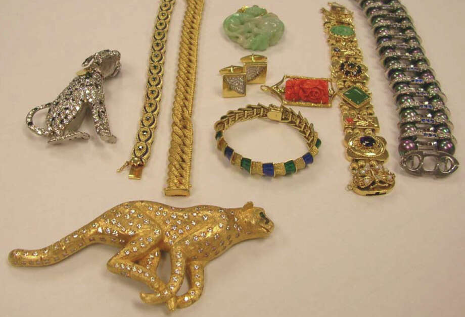 Jewelry seized from Michael and Linda Mastro by the FBI after the couple was arrested in France, pictured in a Justice Department photo. Photo: Department Of Justice Photo