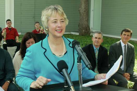 Mayor Annise ParkerWhat you need: A pant suit (This also works for a Hillary Clinton costume)Optional: Angry religious organizations shouting at you wherever you go. Photo: Gary Fountain, Freelance / Copyright 2013 Gary Fountain.