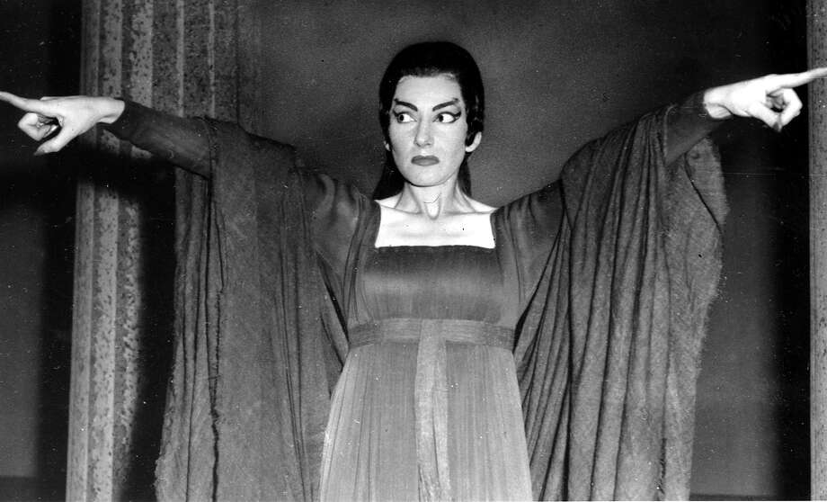 Opera singer Maria Callas made quite an impression with U.S. audiences, not only for her dramatic opera roles, but also for her stormy personal life. / AP