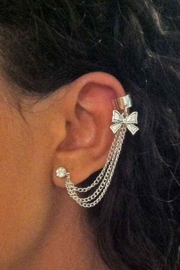 Ear cuff, worn by senior Olivia Dunn. Available for purchase at Claire's. Photo: Olivia Dunn