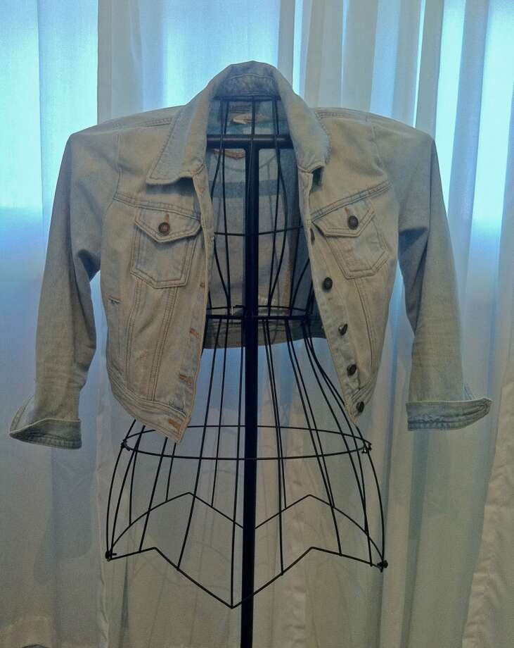 Pictured here is a light wash jean jacket, the must have item for fall. You can find this exact one at Forever 21.