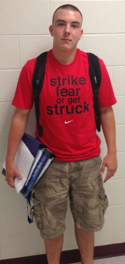 Jimmy McGill, a senior at Berne-Knox-Westerlo High School, wearing a Nike graphic tee. Photo: Ashley Bellinger
