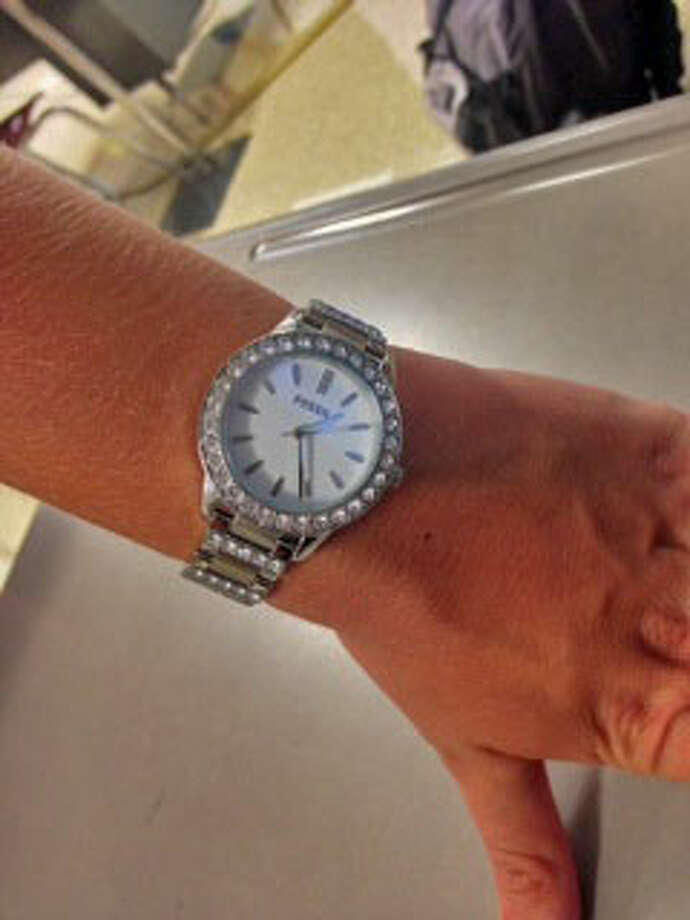 Ryanne Olsen, a Schalmont senior wears a Fossil watch which is becoming a trend most girls cannot ignore. Photo: Courtney Suitto