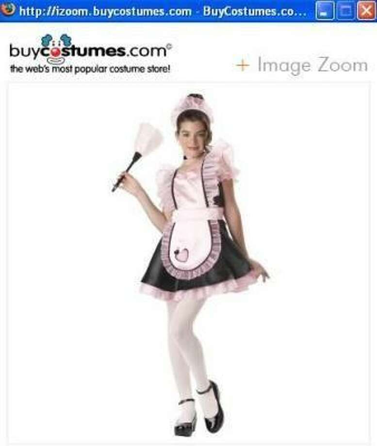 The maid costume is a popular sexy costume for adults. It now is sold for kids