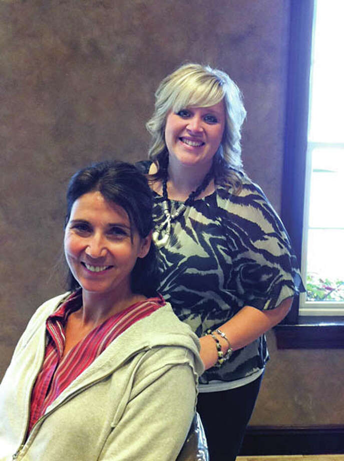Dona and Courtney pose for the camera at Kimberley's A Day Spa. Photo: Photo By Janet Reynolds/HealthyLife