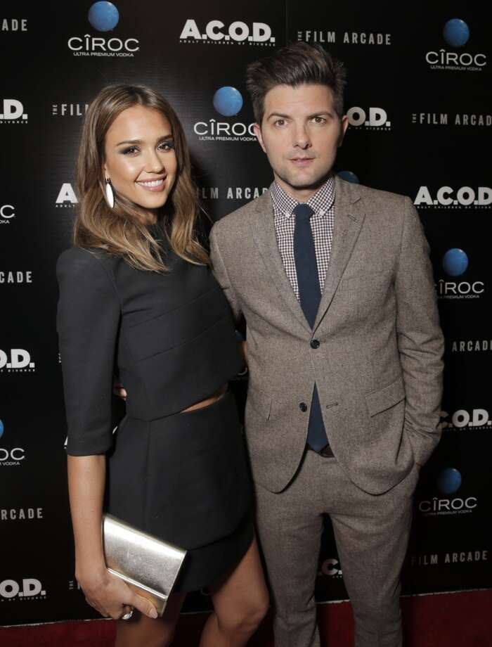 "Jessica Alba and Adam Scott attend the Los Angeles Premiere of ""A.C.O.D."" Powered by CIROC Vodka, at The W Hotel on Thursday, Sept. 26, 2013 in Los Angeles. (Photo by Todd Williamson/Invision for CIROC/AP Images) Photo: Todd Williamson, Associated Press"