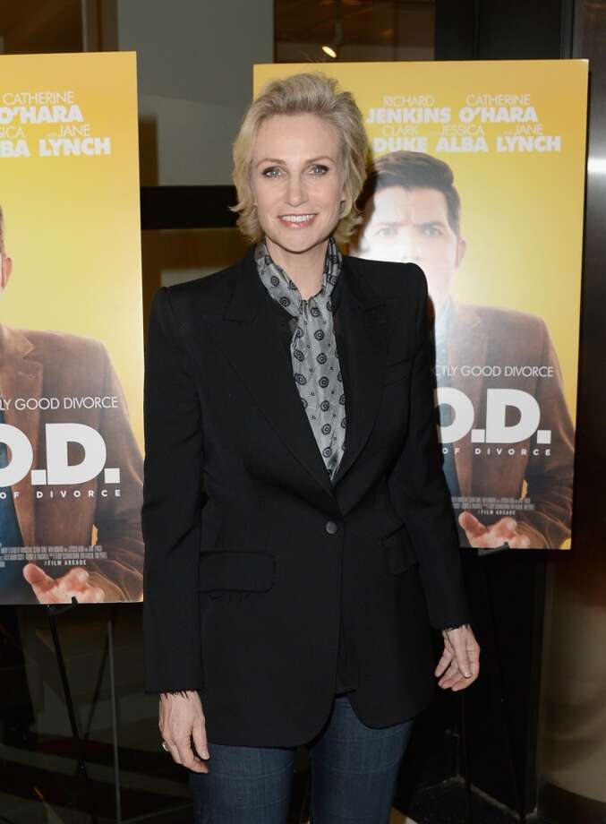"Actress Jane Lynch attends the premiere of The Film Arcade's ""A.C.O.D."" at the Landmark Theater on September 26, 2013 in Los Angeles, California.  (Photo by Jason Merritt/Getty Images) Photo: Jason Merritt, Getty Images"