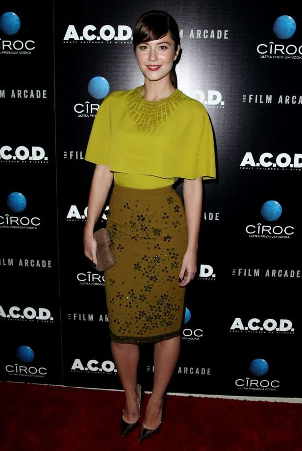 "Mary Elizabeth Winstead arrives at the premiere of ""A.C.O.D."" at the Landmark Theatre on Thursday, Sept. 26, 2013 in Los Angeles. (Photo by Matt Sayles/Invision/AP) Photo: Matt Sayles, Associated Press"