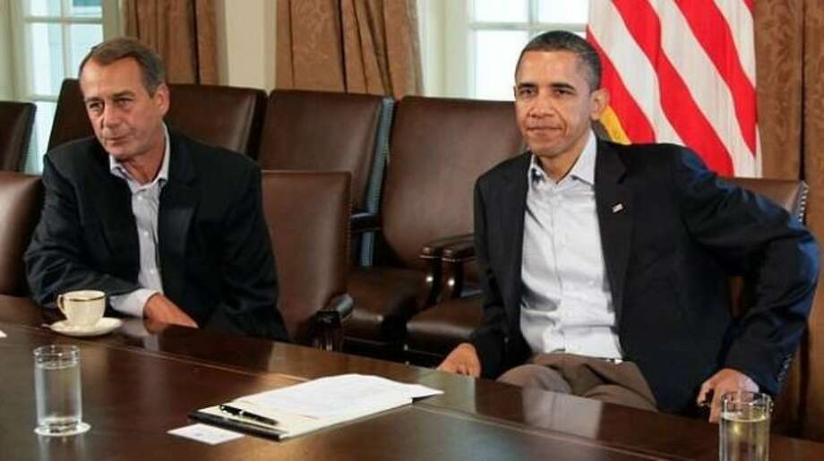 Speaker of the House John Boehner and President Barack Obama during 2011 budget negotiations. Photo: AP Photo