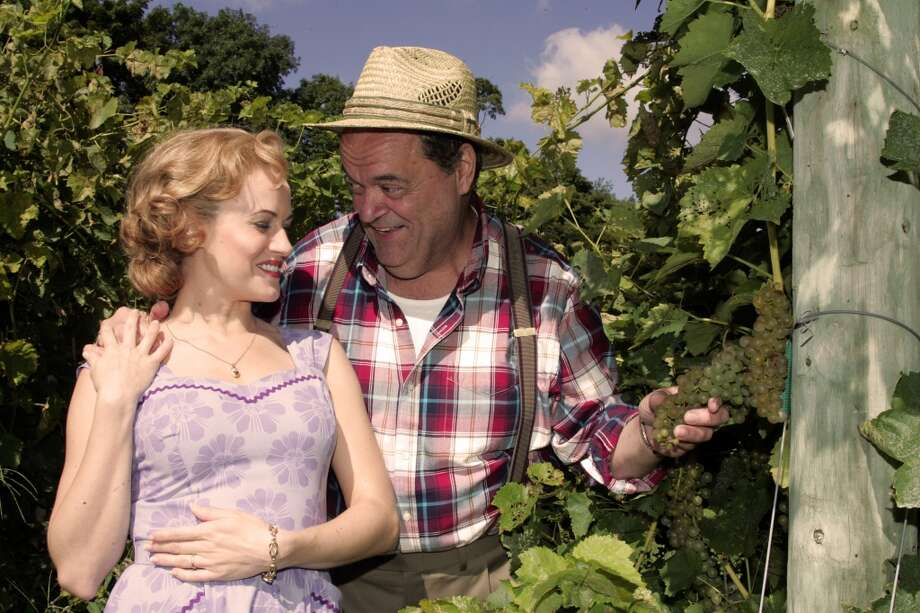 """A San Francisco waitress (Mamie Parris) who thinks she has been corresponding with a young hunk finds out that her pen pal boyfriend is a much older man (Bill Nolte) in """"The Most Happy Fella,"""" which is closing out the 2013 season at the Goodspeed Opera House in East Haddam. Photo: Contributed Photo"""