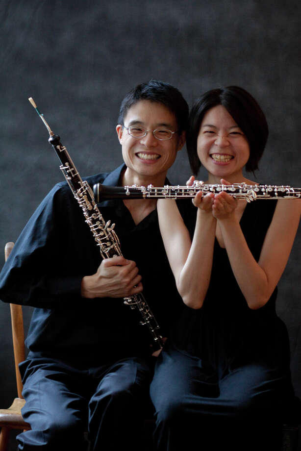 Oboists Dr. Charles Huang and Ling-Fei Kang perform as Oboe Duo Agosto for Wilton Library's Connecticut's Own Concert Series Sunday, Sept. 29, 2013 from 4 to 5 p.m.  The concert is free; registration is recommended.  Wilton Library, 137 Old Ridgefield Road, Wilton, CT www.wiltonlibrary.org; 203-762-3950, Ext. 213. Photo: Val Astraverkhau